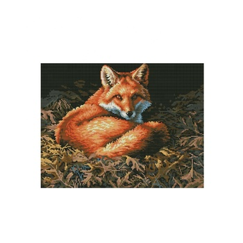 NKF Fox animal style cotton cross stitch kit
