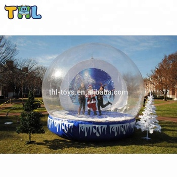 inflatable human size snow globe for christmas/giant inflatable snow globe for outdoor