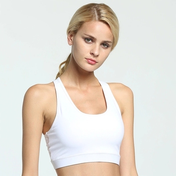 Elastic band apparel wholesale women training sports yoga top with back pocket