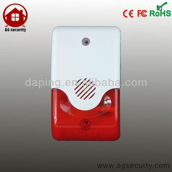 Wireless siren with flash alarm system/ 120 db Alarm sound
