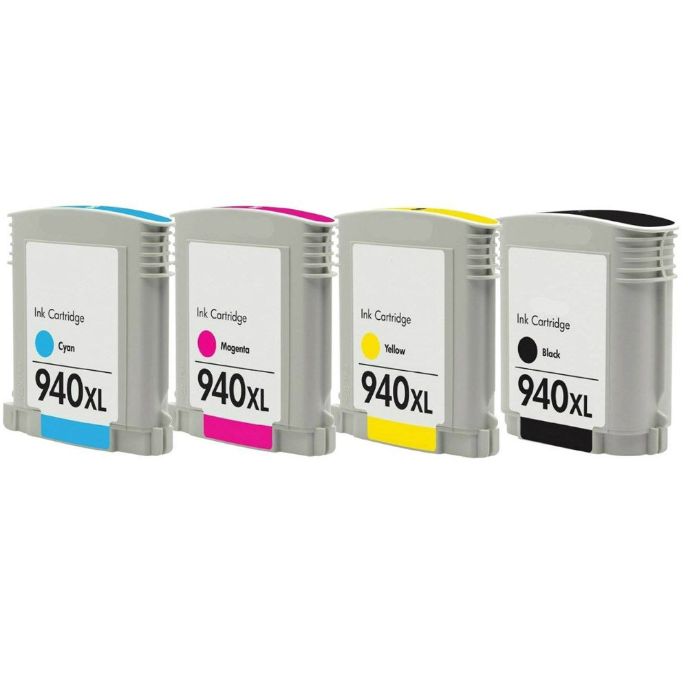 hot sale 4 pack hp 940xl ink cartridges for officejet pro 8000 with new chip in ink cartridges. Black Bedroom Furniture Sets. Home Design Ideas