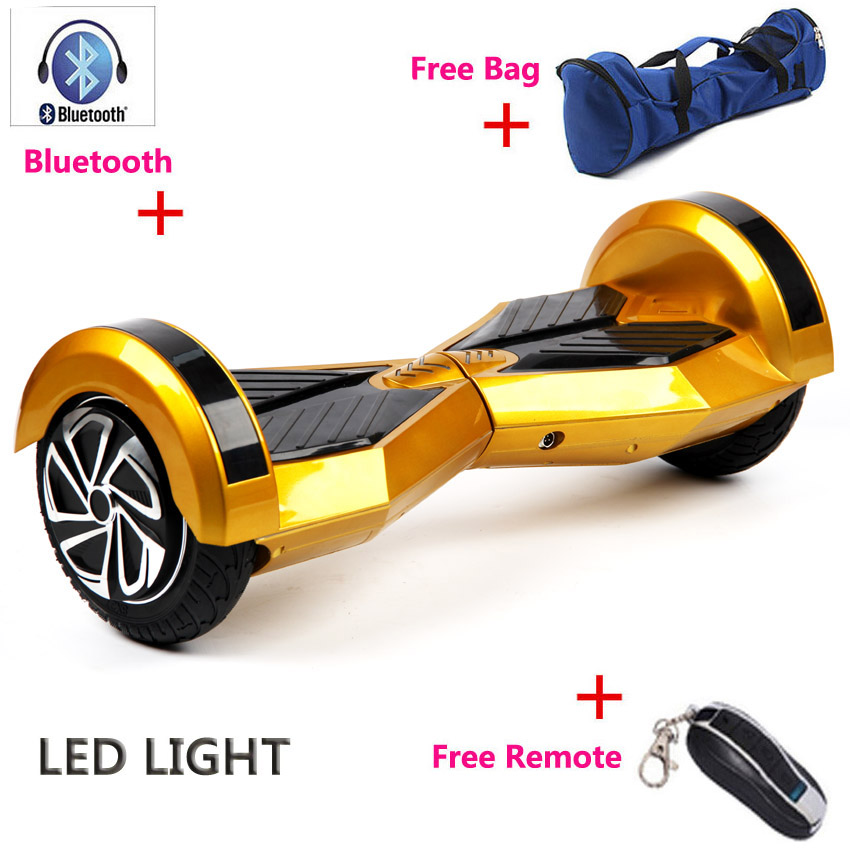 2016 Two Wheel Self Smart Balance Scooter 8 Inch With Led Light