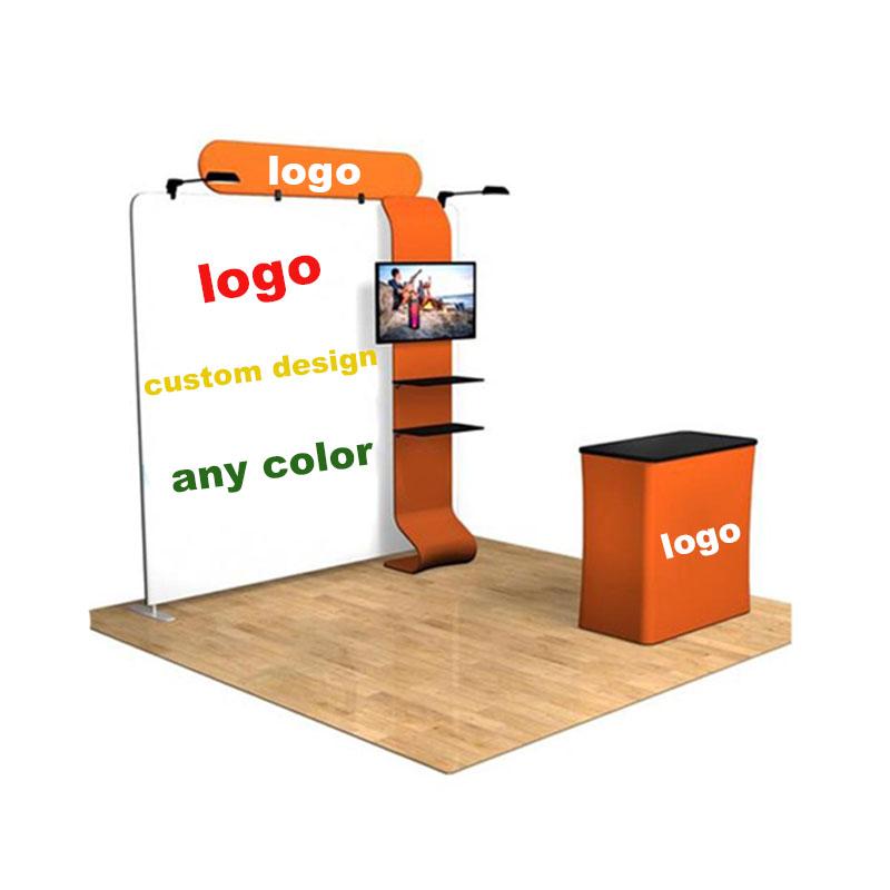 Рамка для выставочной стенды, портативная, с сублимационной печатью, Натяжная ткань, легкая алюминиевая L-стенд