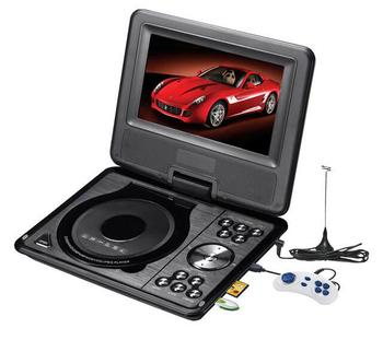 High Quality 7 inch DVD Player With PAL/NTSC/SECAM Analog TV system