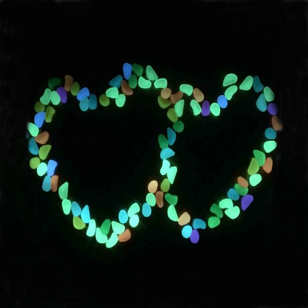 Светящийся в темноте камень-галька для аквариума, пластиковый светящийся камень, в ассортименте