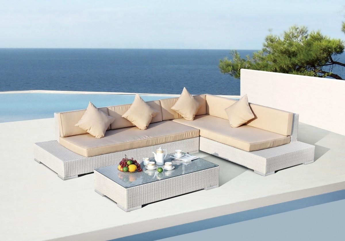 Профессиональный производитель, новинка, оптовая продажа, прочный алюминиевый каркас для внутреннего дворика, садовый набор, уличный комплект мебели, диван