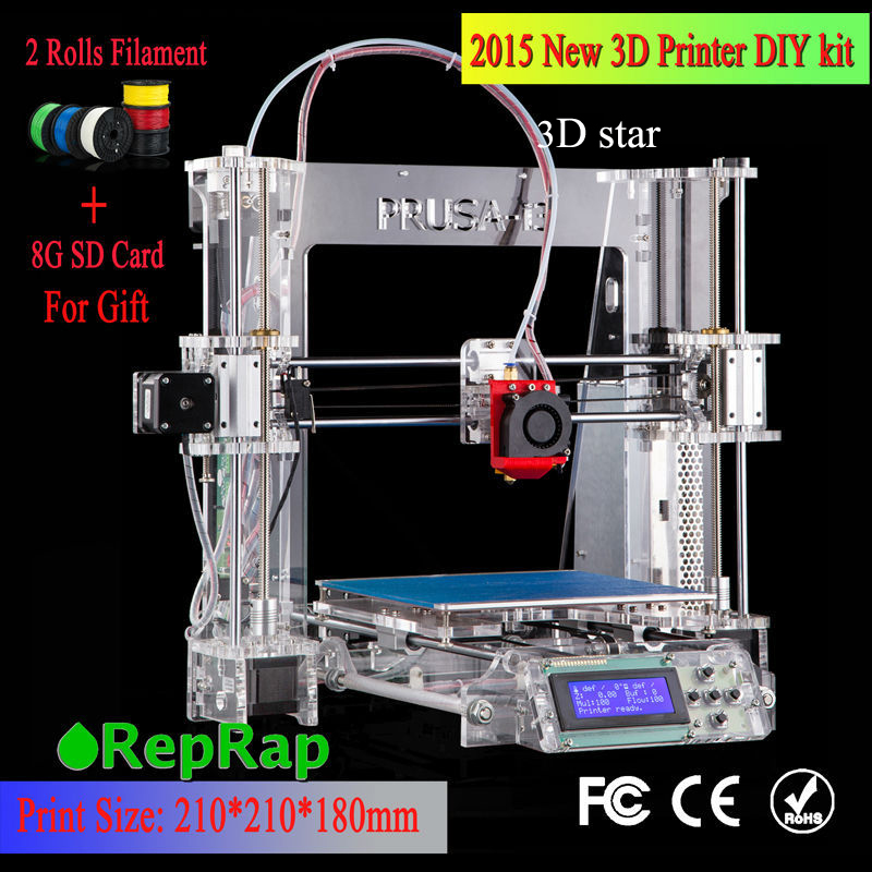 100% Brand new Full acrylic Upgraded Prusa-i3 DIY 3d Printer