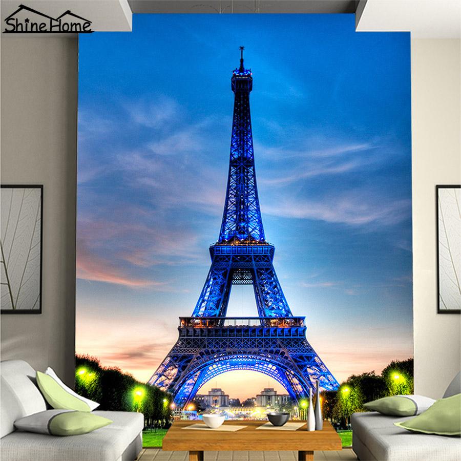 France Landmark Eiffel Tower City Building 3d Wallpaper For Wall 3 D Livingroom Aisle Non Woven Mural Rolls Bedroom Decor