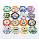 Wholesale Poker chip set ceramic Poker chips customized Playing card chips for casino manufacturer in China
