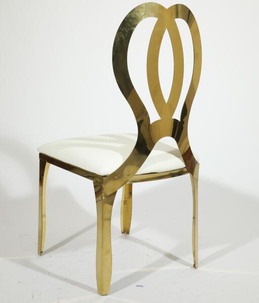 Высококачественная свадебная мебель для отеля, свадебные стулья из нержавеющей стали золотого цвета для банкетных стульев