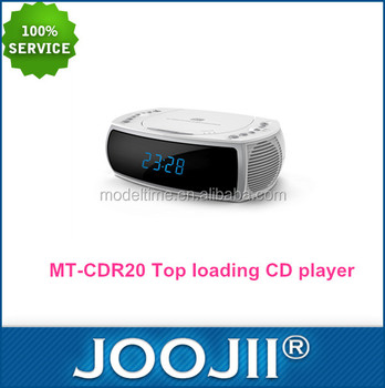 Portable boombox CD/mp3 player with big display, Personal top loading CD player with PLL FM radio