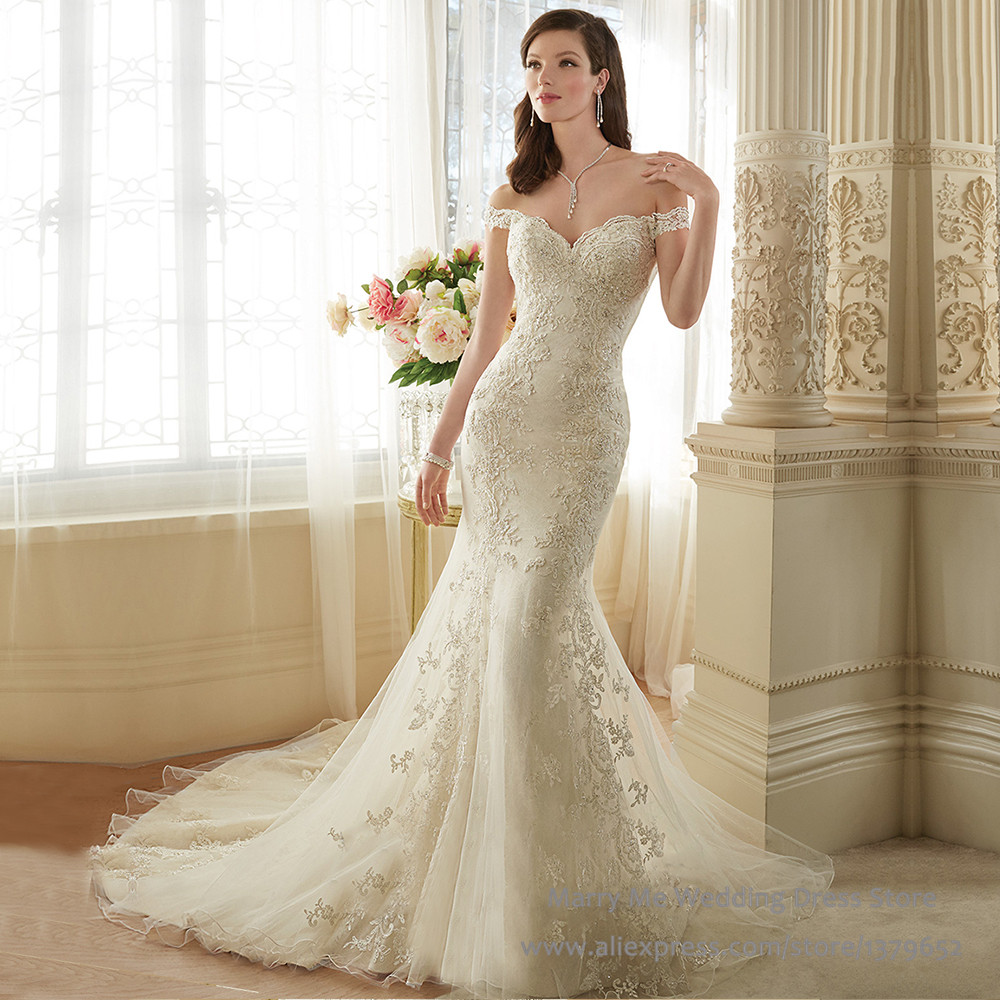 Cost Of Sophia Tolli Wedding Gowns: Vintage Wedding Dress Lace Sexy Mermaid Robe De Mariage