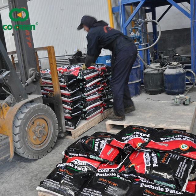 Асфальтовый асфальт для обратного наполнения дороги, ремонт, холодный асфальт, материал в пакете 20 кг, совокупный Размер 10 мм