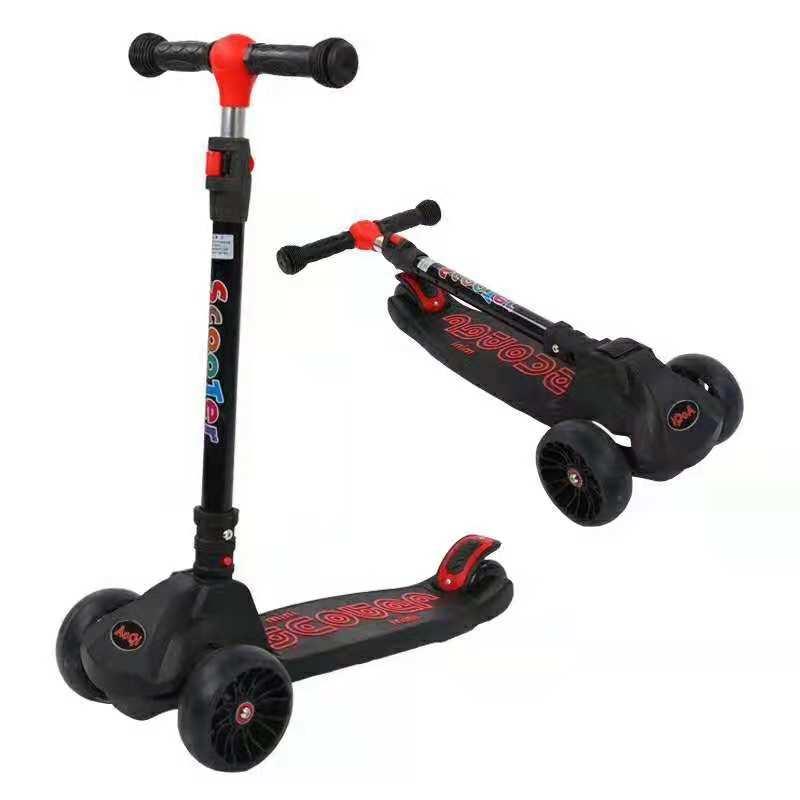 Junlin складной 3 колеса Детский самокат для детей со светом и музыкой для детей