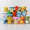 1pcs pikachu Charmander Dedenne Vulpix Dragonite Froakie mudkip Substitute lugia chikorita plush stuffed toy doll free