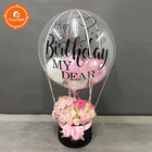 Small Balloon Flower Box For Valentine's Day Custom Flower Box Luxury
