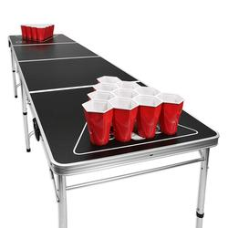 8 Foot Portable Beer Pong Outdoor folding cheap custom  beer pong table