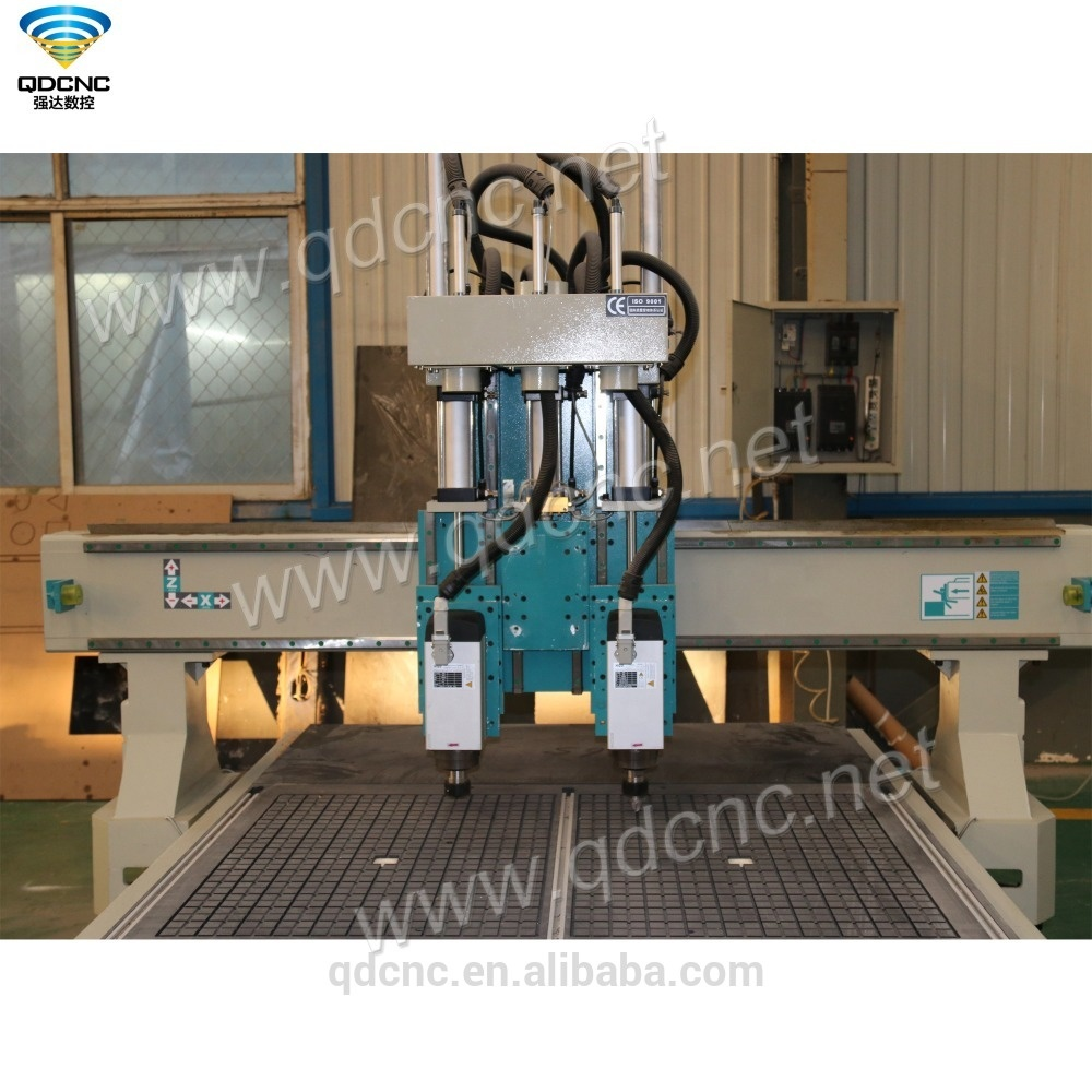 China Low Cost 1325 Wood Carving and Cutting CNC Router Machine with Pneumatic ATC Spindle QD-1325-2AT(QD-1325-3AT Optional)