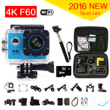 Original F60 Ultra 4k Action Sport Camera Wifi 2.0 Lcd 170 Degree Wide Lens Helmet Cam 30m Underwater Waterproof