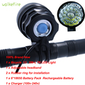 Walkifre High Lumens 3 Colors 13 x XML T6 LED Rechargeable Bicycle Light Cycling HeadLight Bike