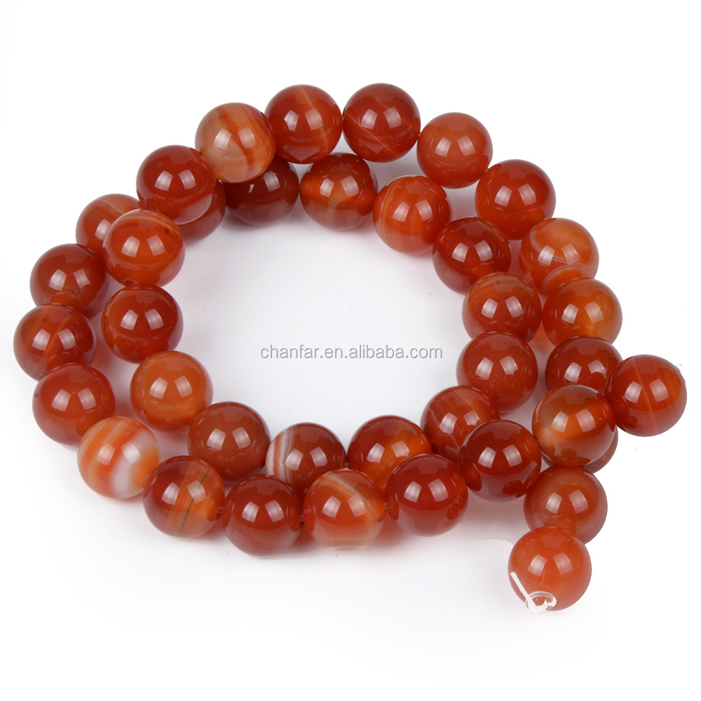 4mm 6mm 8mm 10mm 12mm Selection Orange banded striped Onyx Beads