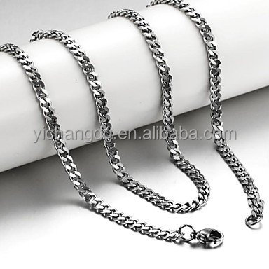 Новый дизайн, титановая цепь 3 мм, ожерелье Rolo оптом