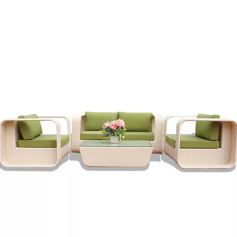 Современный полиэтиленовый Плетеный уличный диван, садовый диван из ротанга, садовый диван