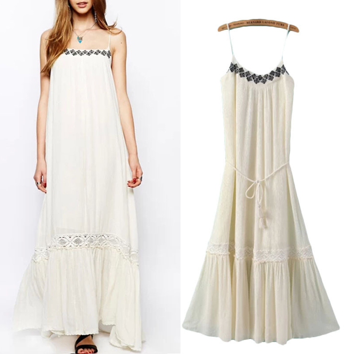 Summer Favourite Grecian Dresses: Vestido Branco 2015 Women Summer Sleeveless Long Dress