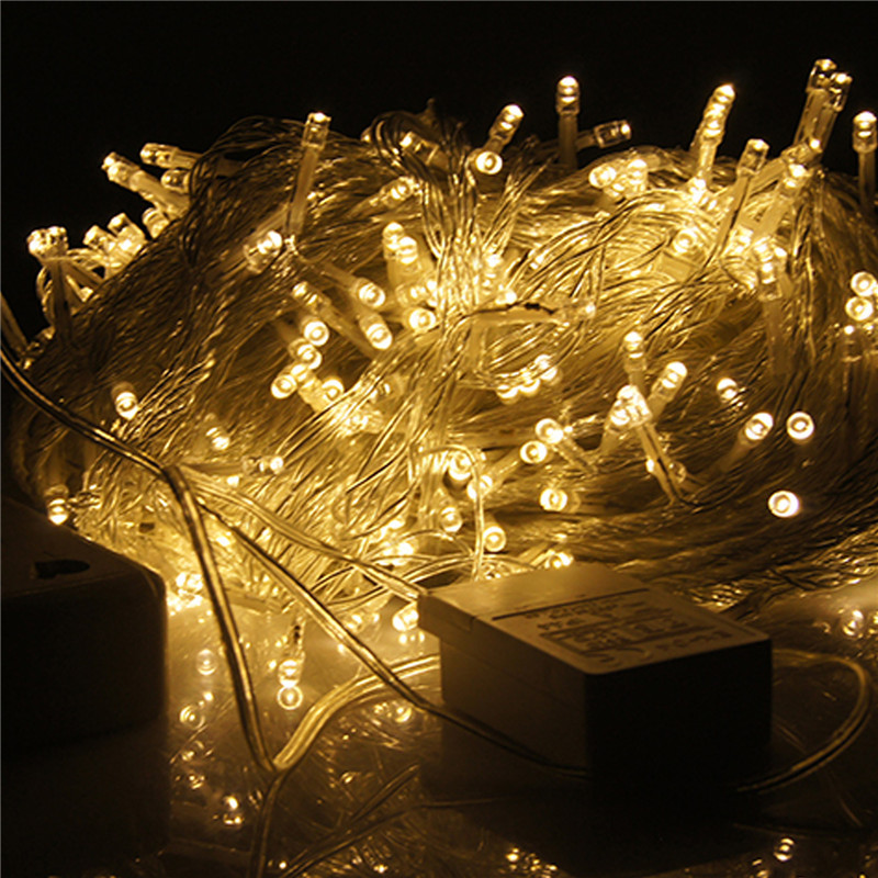 2015 hot sale 9 colors 100 led string light christmas wedding party decoration lights lighting. Black Bedroom Furniture Sets. Home Design Ideas