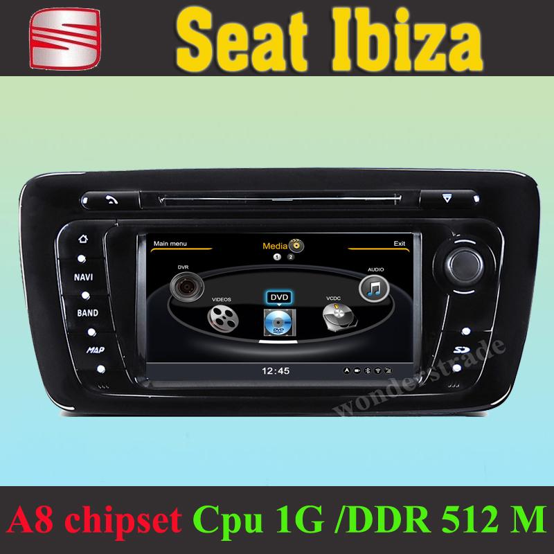buy car dvd player gps navigation radio seat ibiza 2008. Black Bedroom Furniture Sets. Home Design Ideas