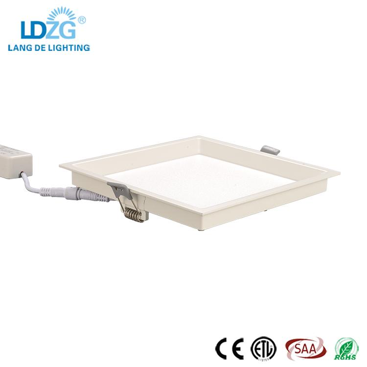 Zhongshan Simple Slim Square Shape 5 Watt Dimmable Recessed Mount 110-220V LED Ceiling LED Plastic Panel Light