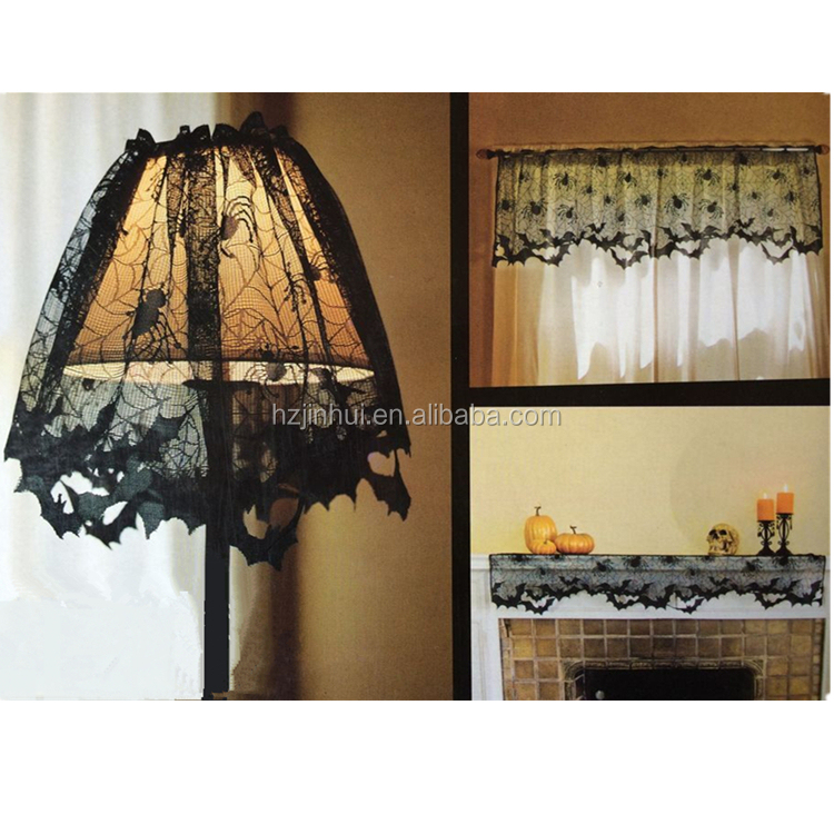 Halloween Lamp Shade Cover Lace Mantle Topper And Window Valance And Kitchen Curtains And Valances Buy Lamp Shade Kitchen Curtains And Valances Window Valance And Swag Product On Alibaba Com