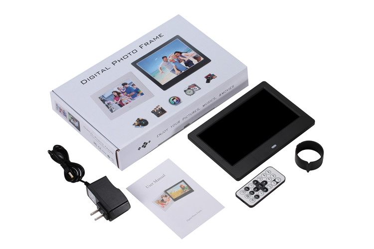 Заводская цена USB/SD 1024x600 HD 7 дюймов ЖК Цифровая фоторамка цифровой фотоальбом