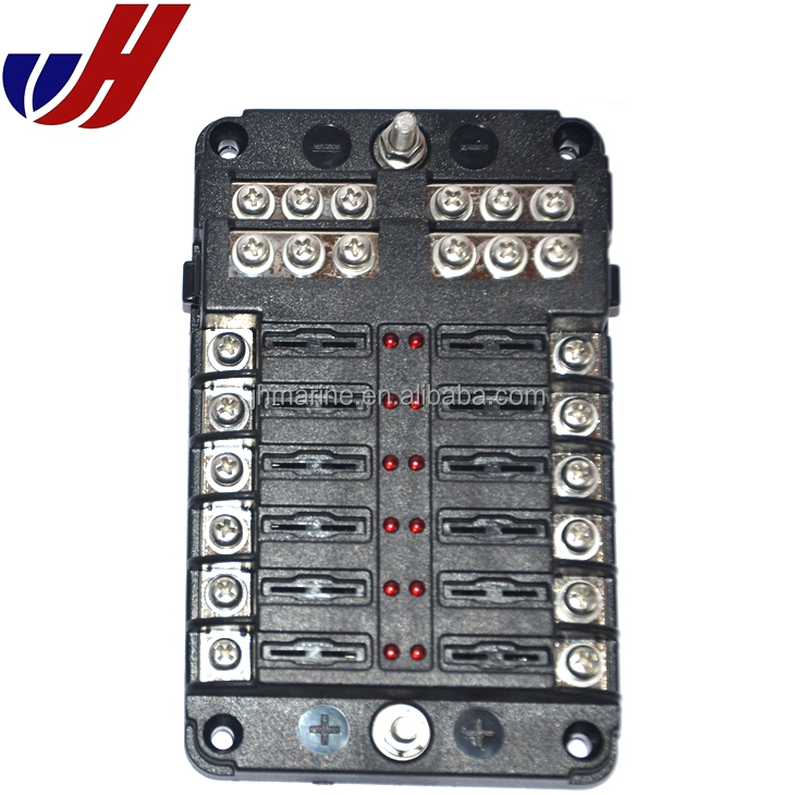 12 way blade fuse box / bus bar with cover - marine kit car boat 12v 24v -  buy 12 way blade fuse box,12 way blade fuse box with cover,car fuse box  alibaba