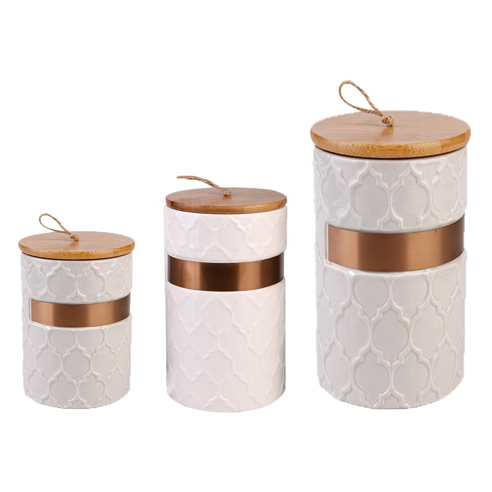 High Quality White Porcelain Tea Coffee Airtight Kitchen Canister Sets Ceramic With Bamboo Lid Buy Canister Sets Ceramic Ceramic Canisters With Bamboo Lid Airtight Canister Product On Alibaba Com
