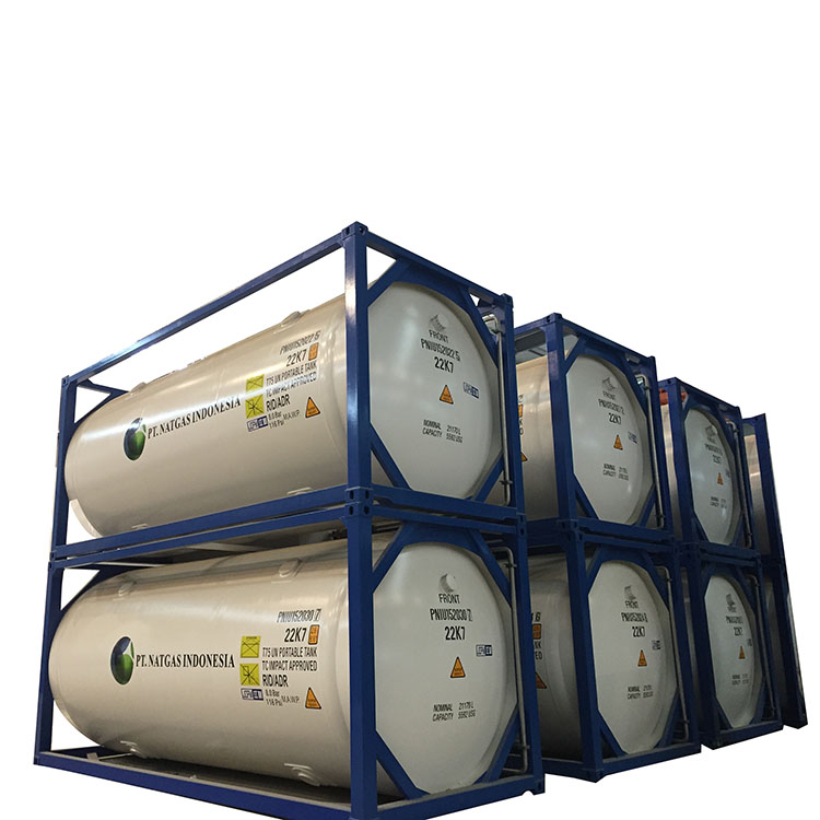 30 ft chemical iso storage tank container CO2 oxygen nitrogen Argon tank container