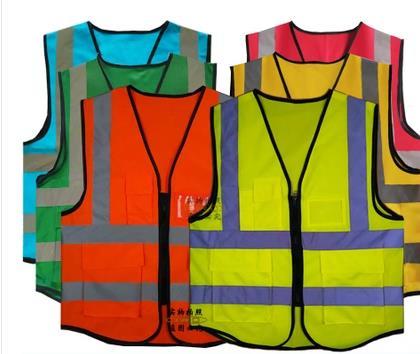 2016 новых людей высокой видимости два тона безопасности светоотражающий жилет рабочая одежда бесплатная доставка SJQ349