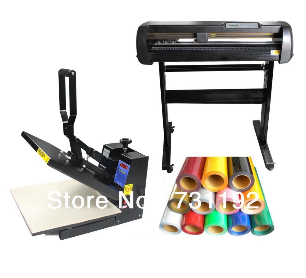 24inch 500g Vinyl Cutting Plotter & 15x15 Heat Press