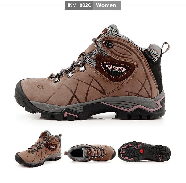 Clorts 2017 Men Outdoor Hiking Boots Waterproof Non Slip