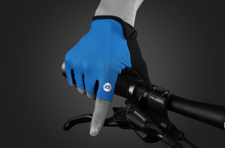 OEM S106 Outdoor Sports Gym Exercise Breathable Bicycle Racing Pad Shockproof Cycling Short Finger Gloves