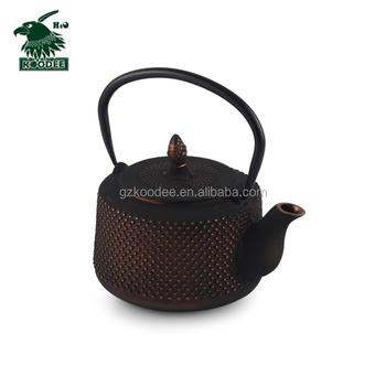 Teapot Durable Cast Iron with a Fully Enameled Interior Beautiful Dragonfly Design 26 Oz. Green&dark Blue Coffee & Tea Sets LFGB