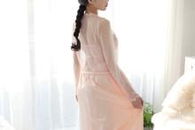 Женский Атласный халат и банный халат Guaze, длинное тонкое платье с v-образным вырезом на спине, комплект одежды для сна(Китай)