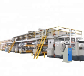 Carton box making machine- 5 ply Corrugated cardboard production line ( A B C E F ) Flute Steam heating