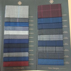 50% wool in stock worsted plain plaid twill spot worsted wool fabric for men's suit