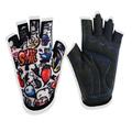 Flexible Lycra half finger sport cycling gloves for children