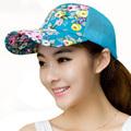 Snapback 2016 Women Caps Floral Print 5 Colors Summer Spring Sun Hat Women Adjustable Mesh Baseball