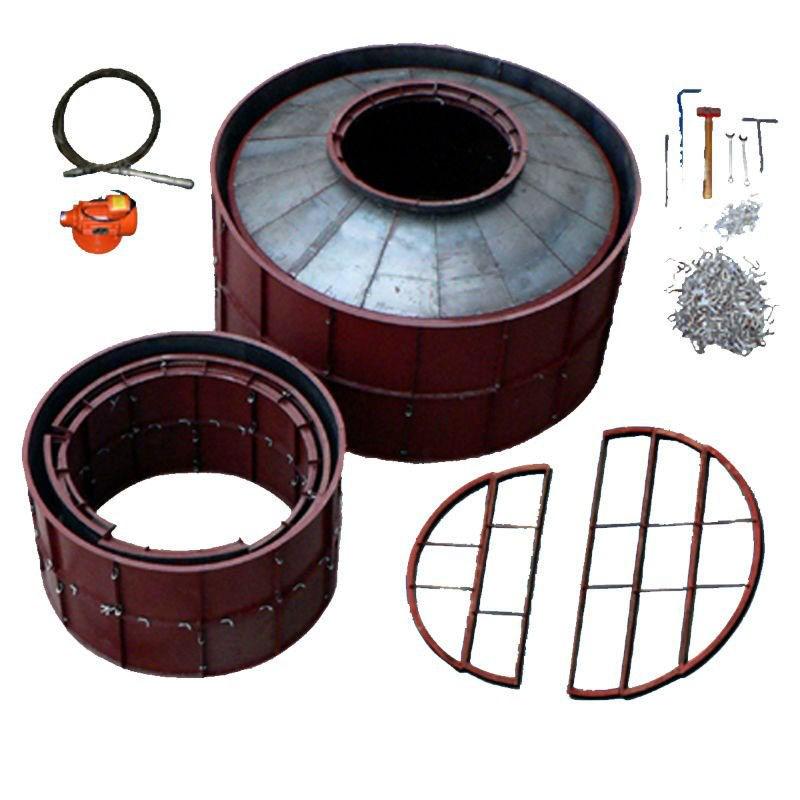 10m3 PUXIN concrete construction mould biogas digester plant with gas holder