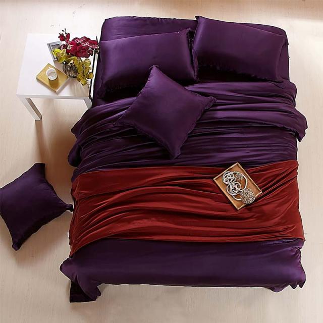 Aliexpress Com Buy Deep Purple Solid Luxury Tencel