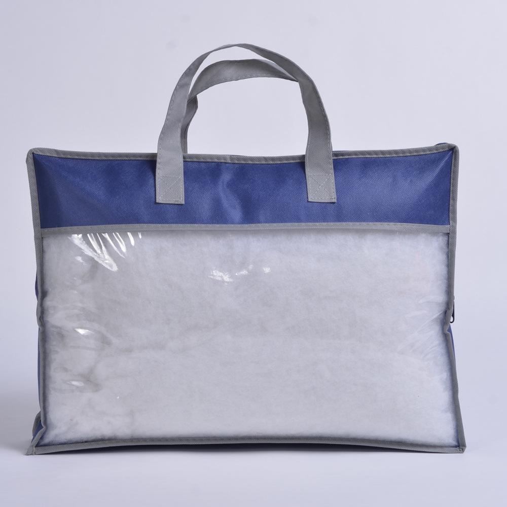 Пользовательский Прозрачный нетканый пыленепроницаемый большой тоут, одеяло, подушка, упаковочная сумка для хранения с молнией