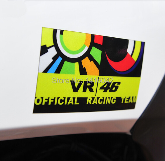 3 Packungen Freies Verschiffen Vinyl Kunststoff 3m Motorrad Aufkleber Abziehbild 46 Valentino Rossi Aufkleber Dekoration Rossi Aufkleber M53274